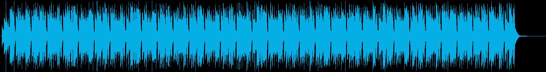 軽快で疾走感のあるBGMの再生済みの波形