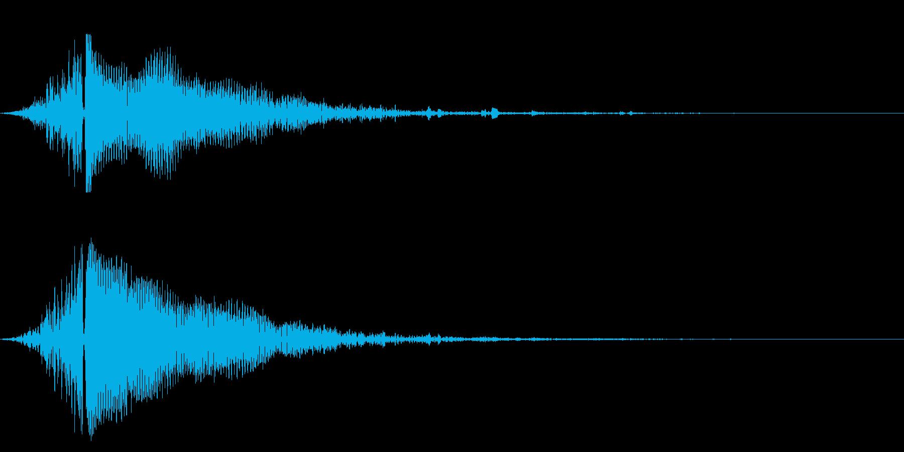 ホラー系アタック音125の再生済みの波形