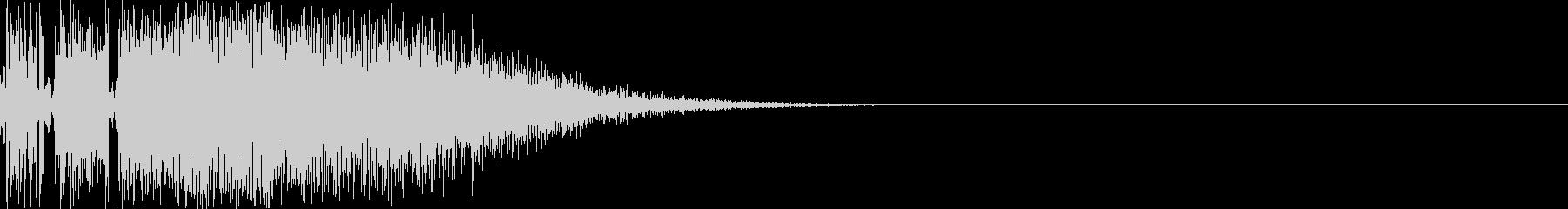 ジャブ(ビシッと軽い音)の未再生の波形