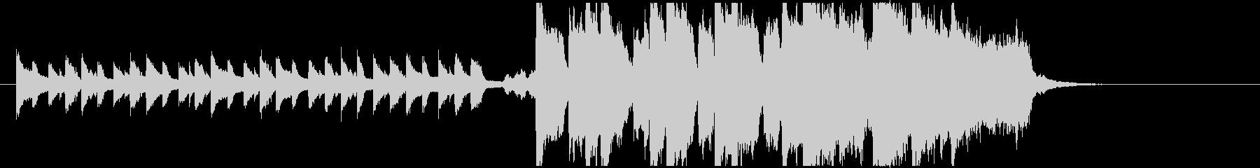 ピアノとオーケストラの二部構成のBGMの未再生の波形