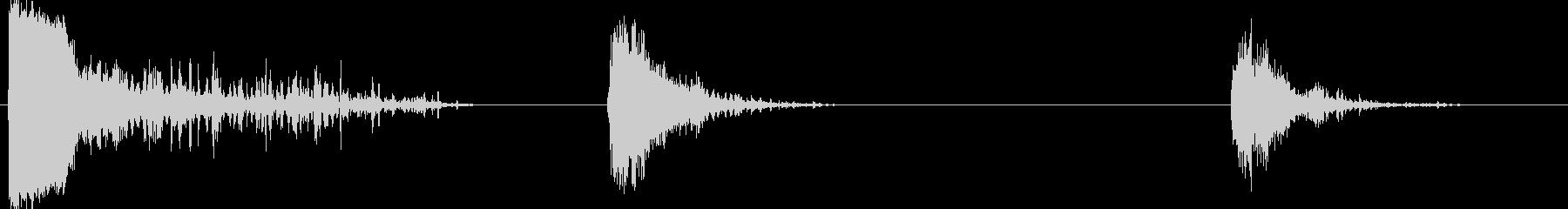 サンダー2の未再生の波形