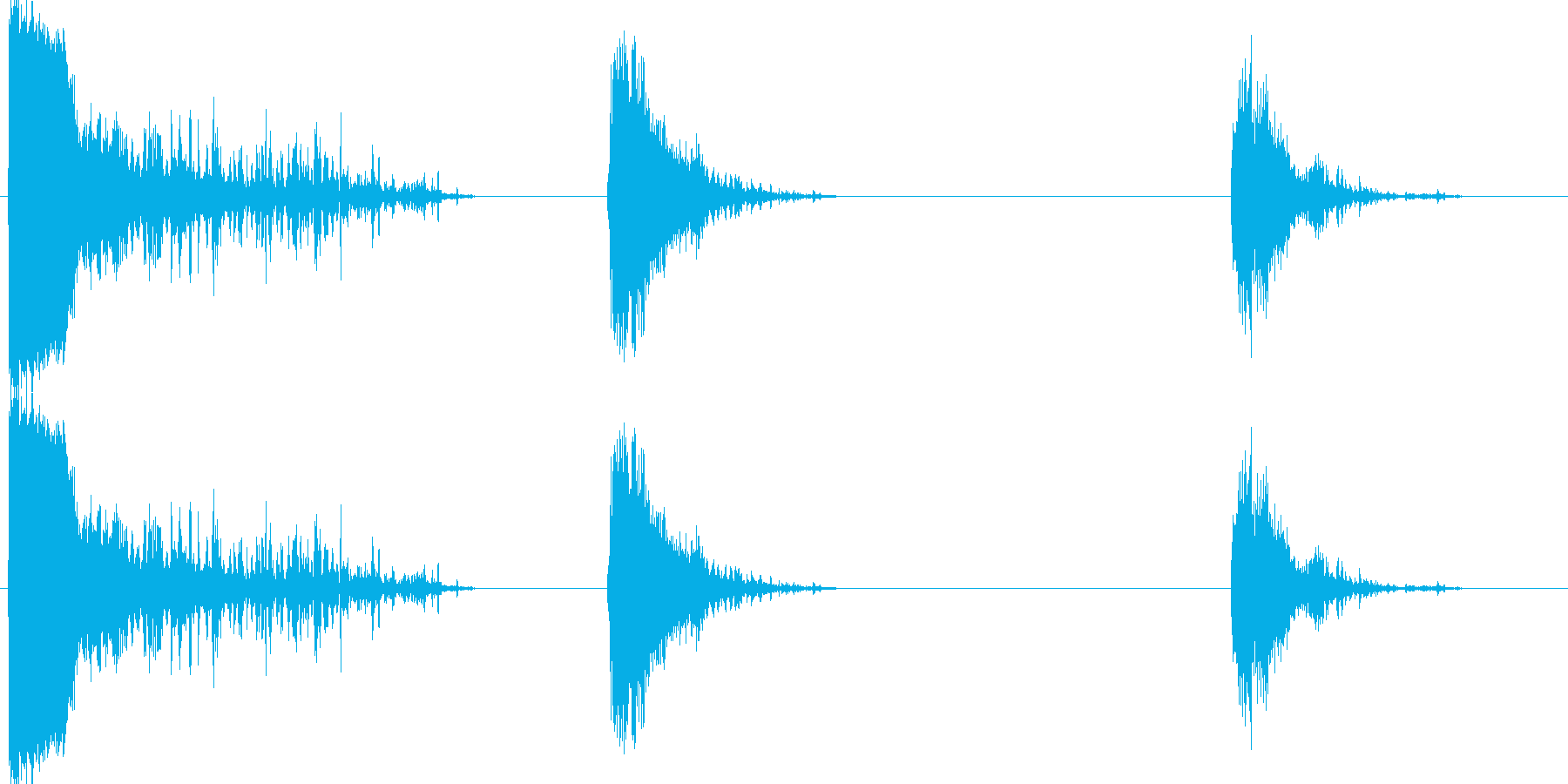 サンダー2の再生済みの波形