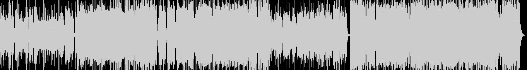 スウィングジャズ風ロックインストBGMの未再生の波形