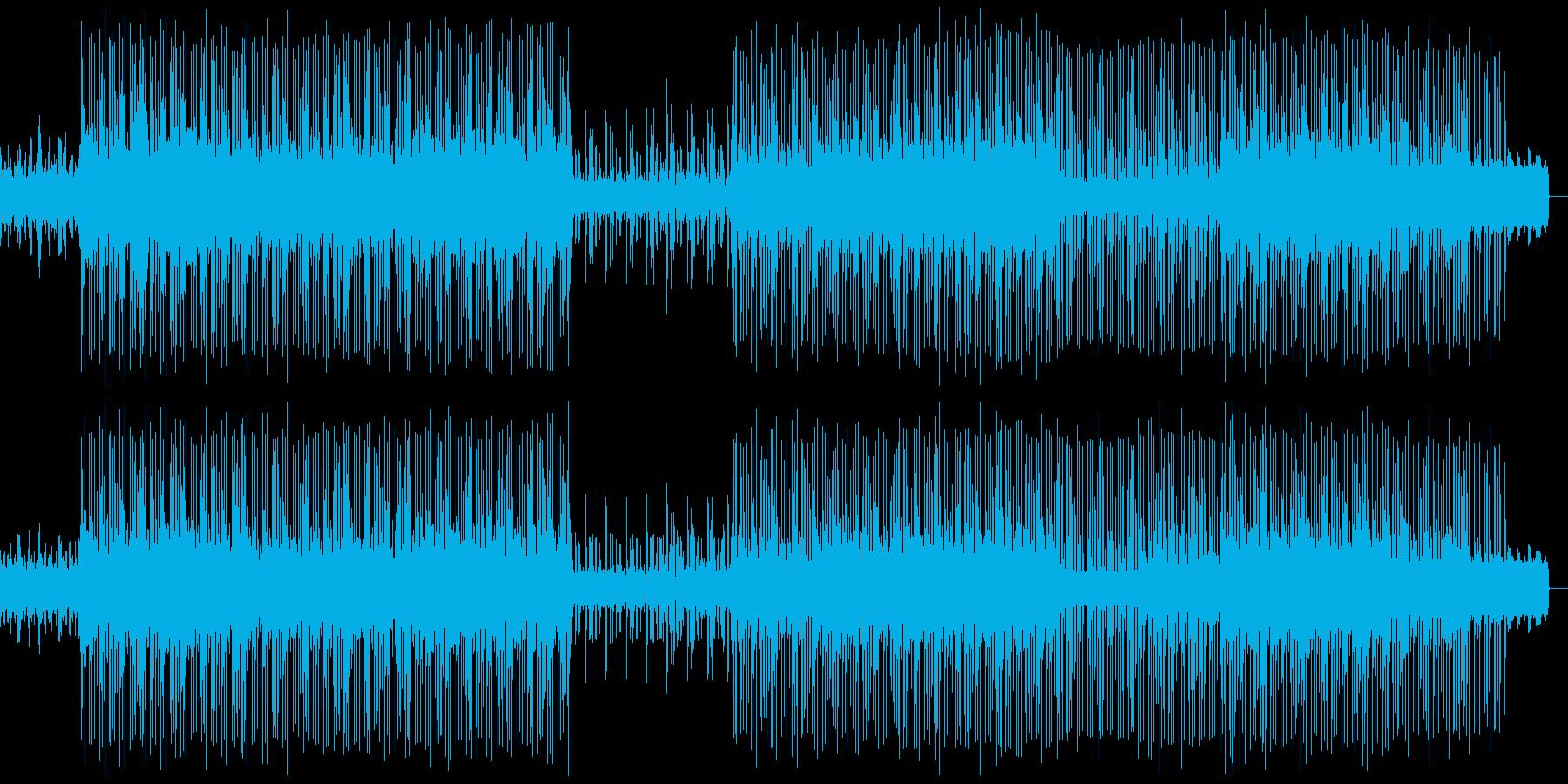 ふんだんに電子音をあしらったテクノの再生済みの波形
