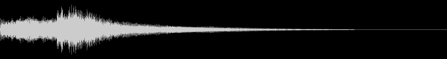 暗い感じ~ピアノのワンショット効果音~の未再生の波形