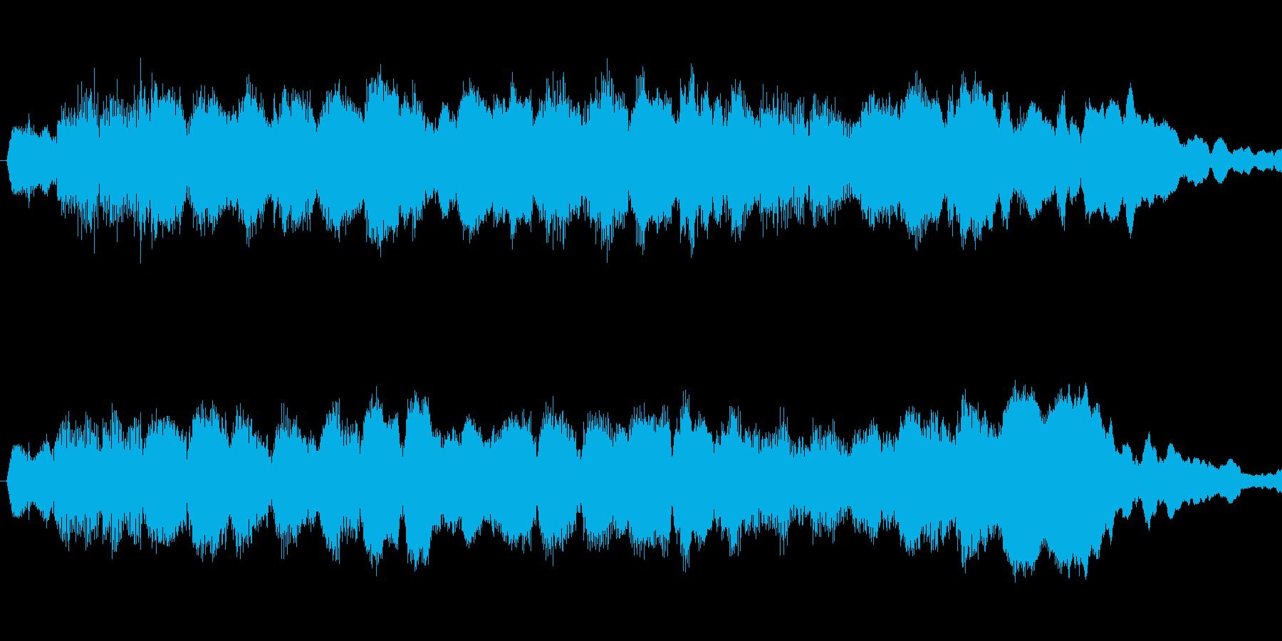 駅のホームのキラキラ音チャイムの再生済みの波形