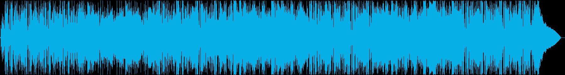 ポジティブで明るいビートのポップロックの再生済みの波形