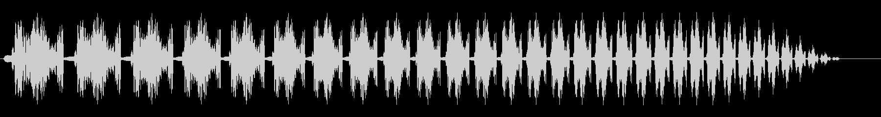 コミカル(プロペラ旋回音のような効果音)の未再生の波形