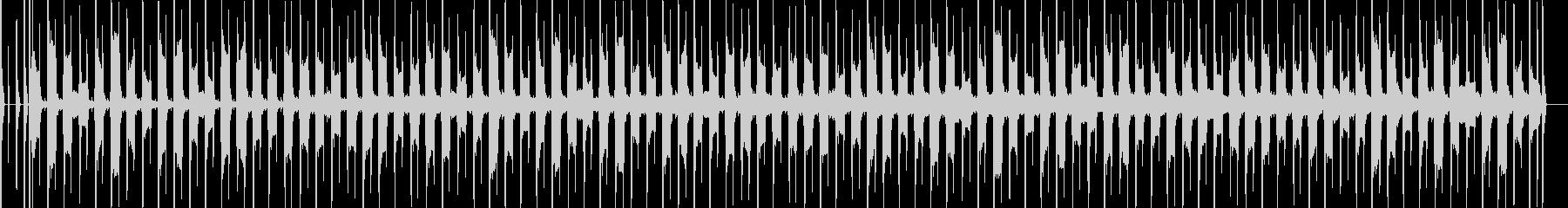 ベース演奏、落ち着くBGMの未再生の波形