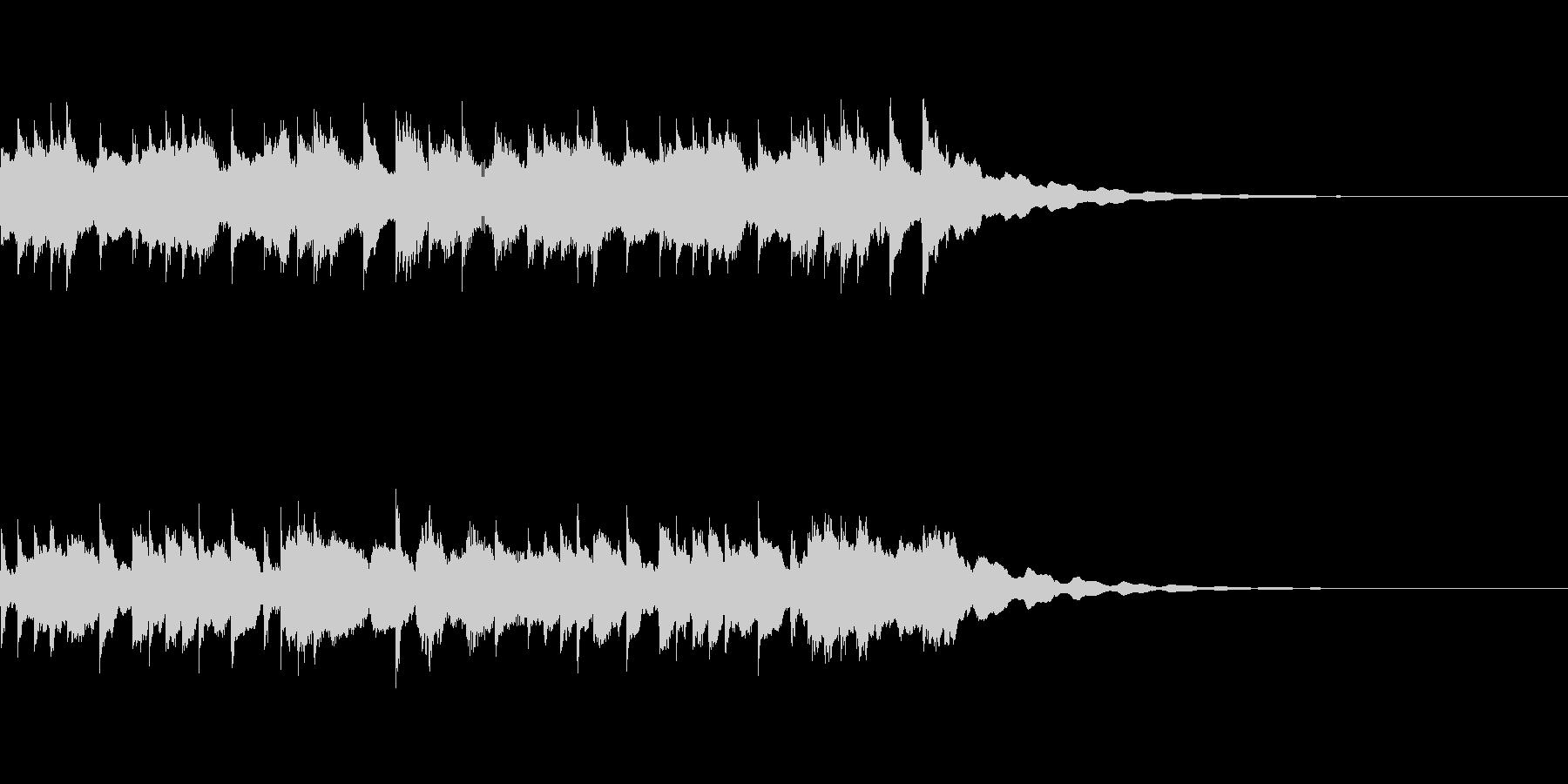 優しいクリスタルのサウンドロゴの未再生の波形