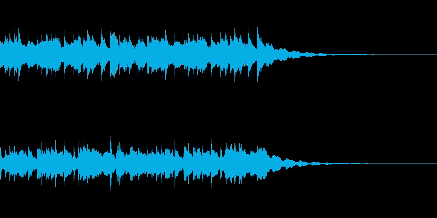 優しいクリスタルのサウンドロゴの再生済みの波形