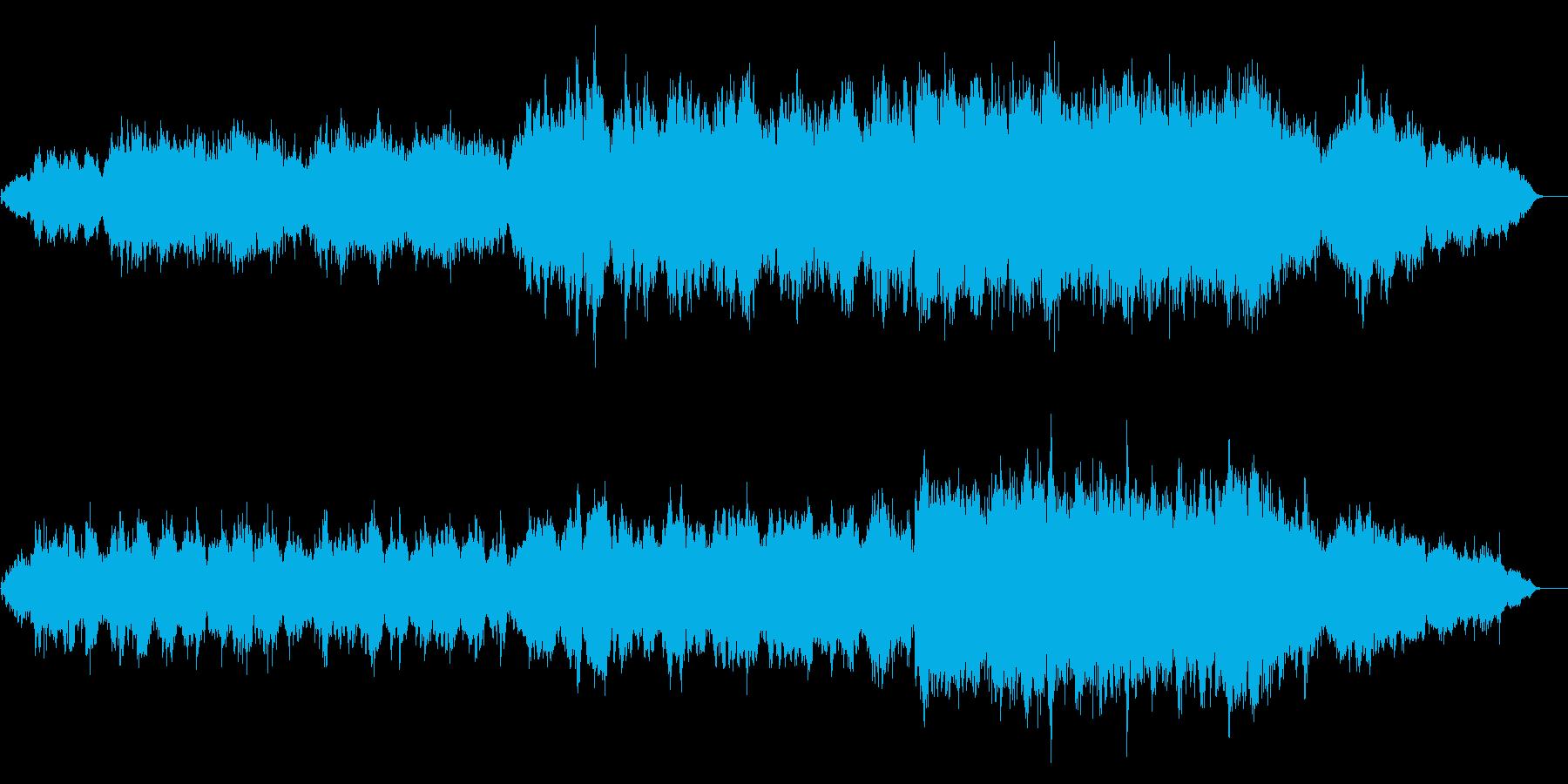 エンヤ風の神秘的なオリジナル曲の再生済みの波形