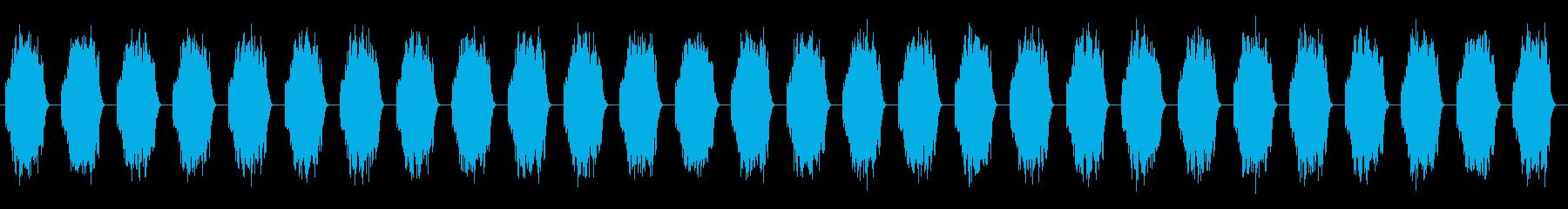ソナ宇宙船:クラクソンアラームの再生済みの波形