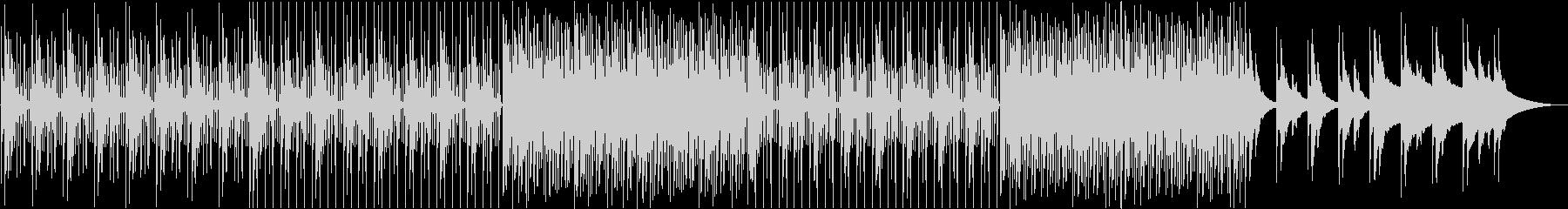 ピアノ主体の緩やかなBGMの未再生の波形