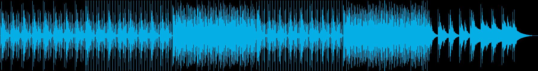 ピアノ主体の緩やかなBGMの再生済みの波形
