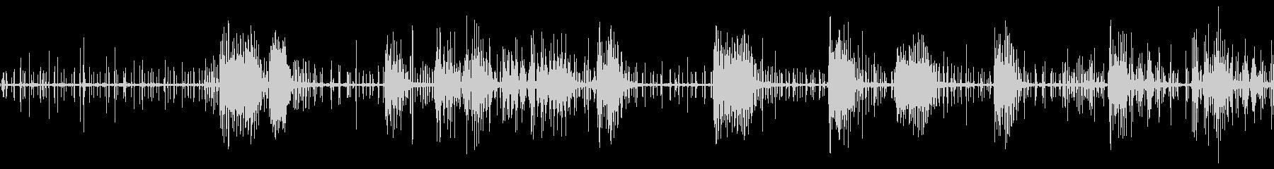 モンスター 蟲 クリーチャー 摩擦音の未再生の波形