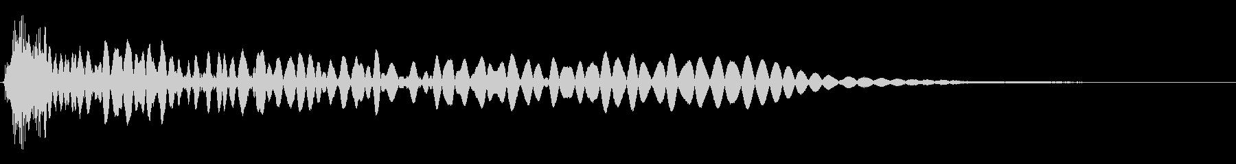 ディープシズルブームの影響の未再生の波形