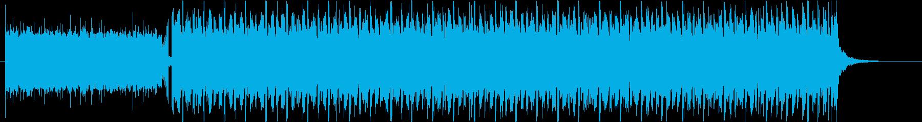 近未来感のあるプログレッシブな4つ打ちの再生済みの波形