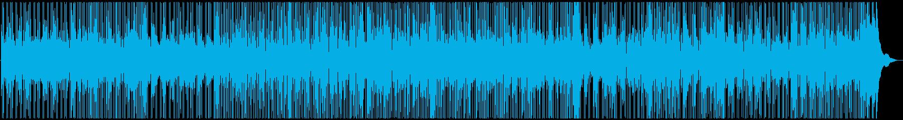 スローファンクのピアノBGMの再生済みの波形