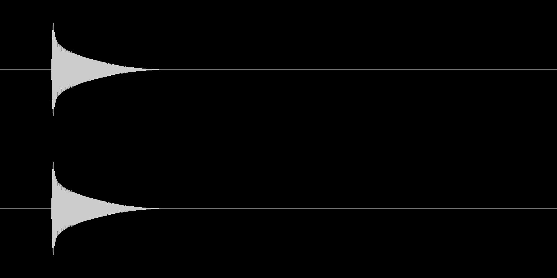 ピコン(アラート、警告)の未再生の波形