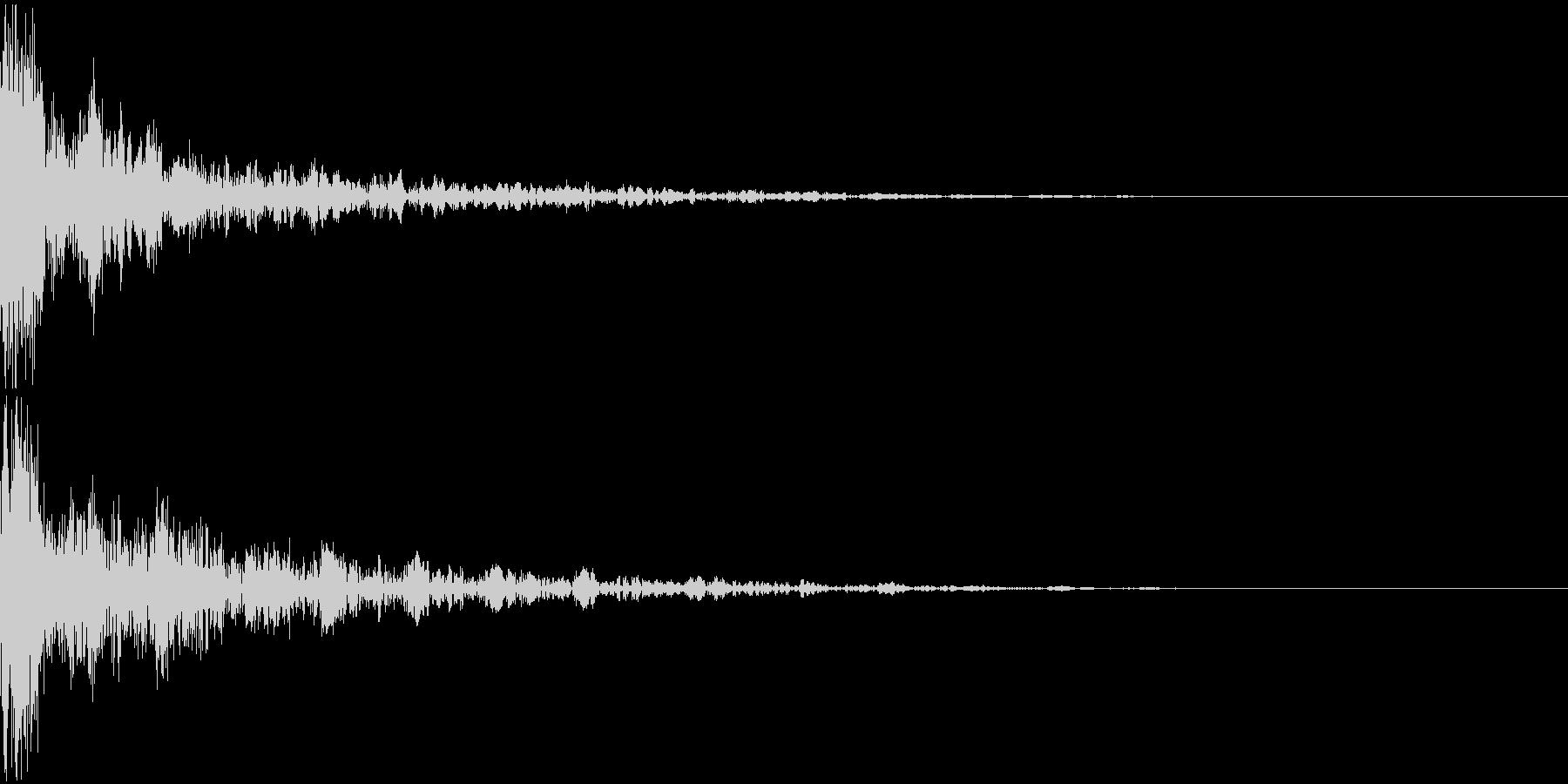 ドーン-22-2(インパクト音)の未再生の波形
