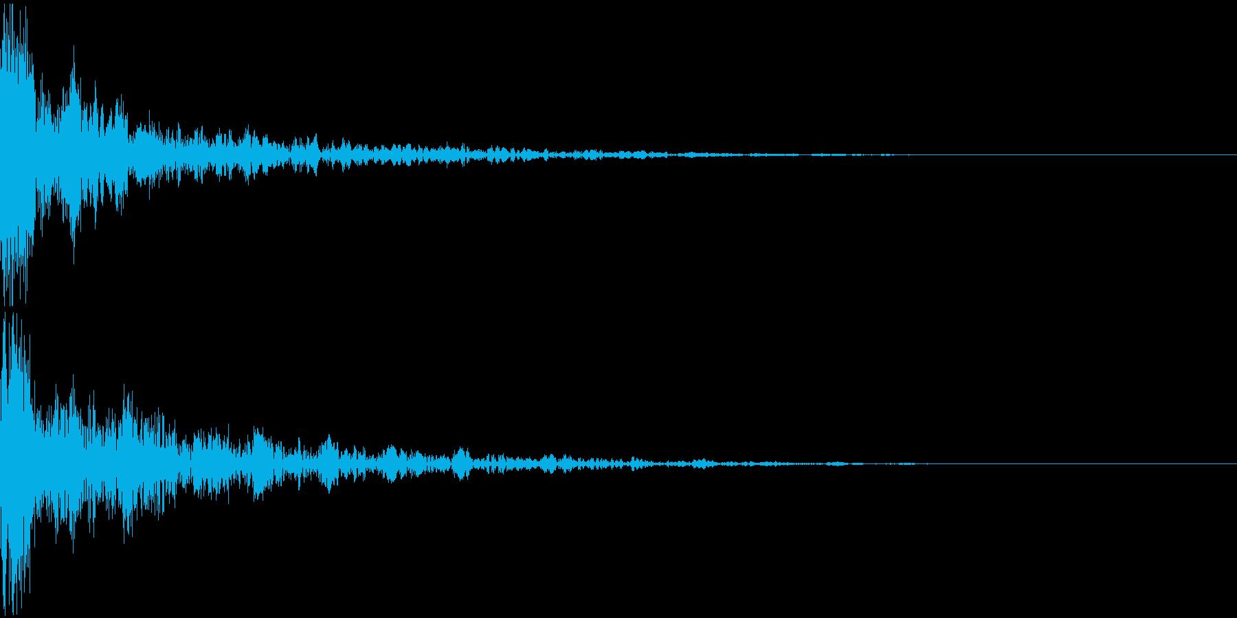 ドーン-22-2(インパクト音)の再生済みの波形