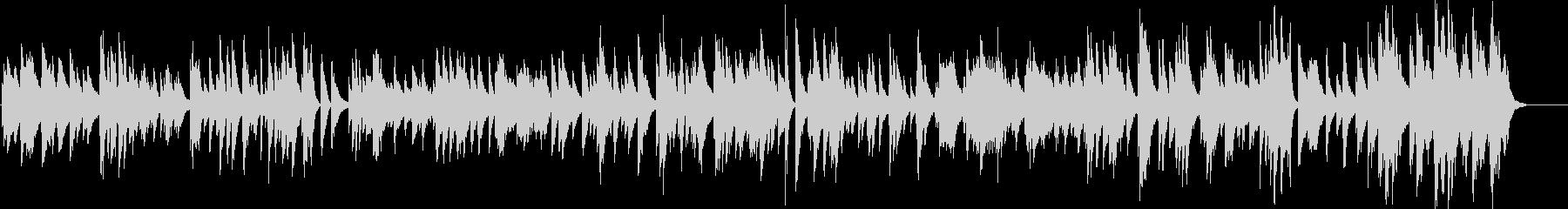「キースジャレット」ムードのピアノ...の未再生の波形