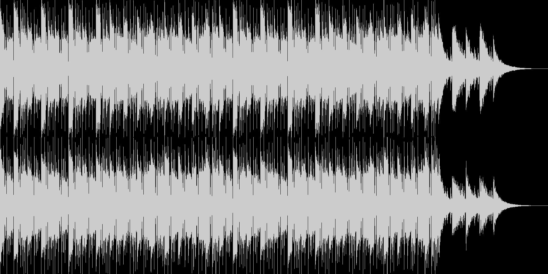 シロフォンとピアノの明るいポップスの未再生の波形