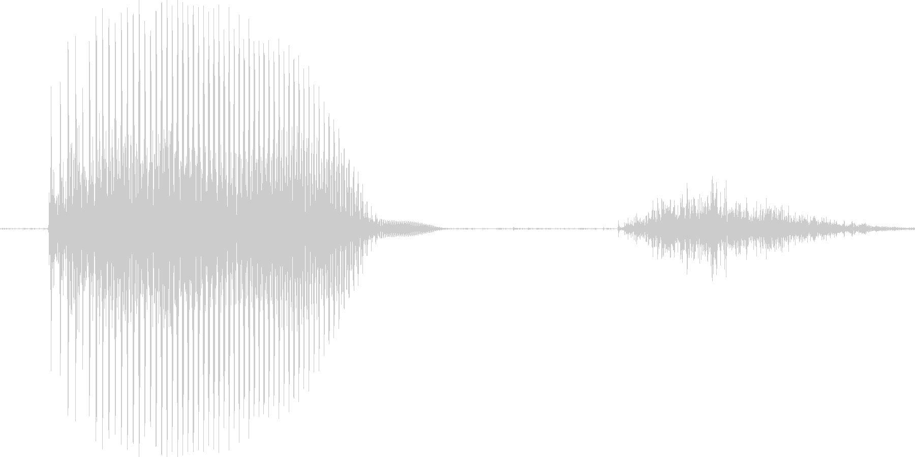 1(いち)の未再生の波形