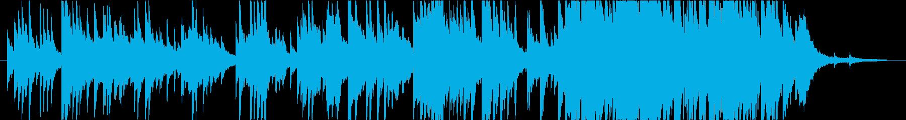 ピアノソロ曲の再生済みの波形