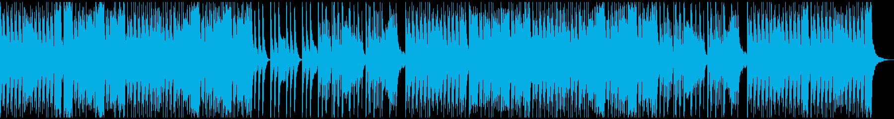 不思議な雰囲気を放つコミカルBGMの再生済みの波形