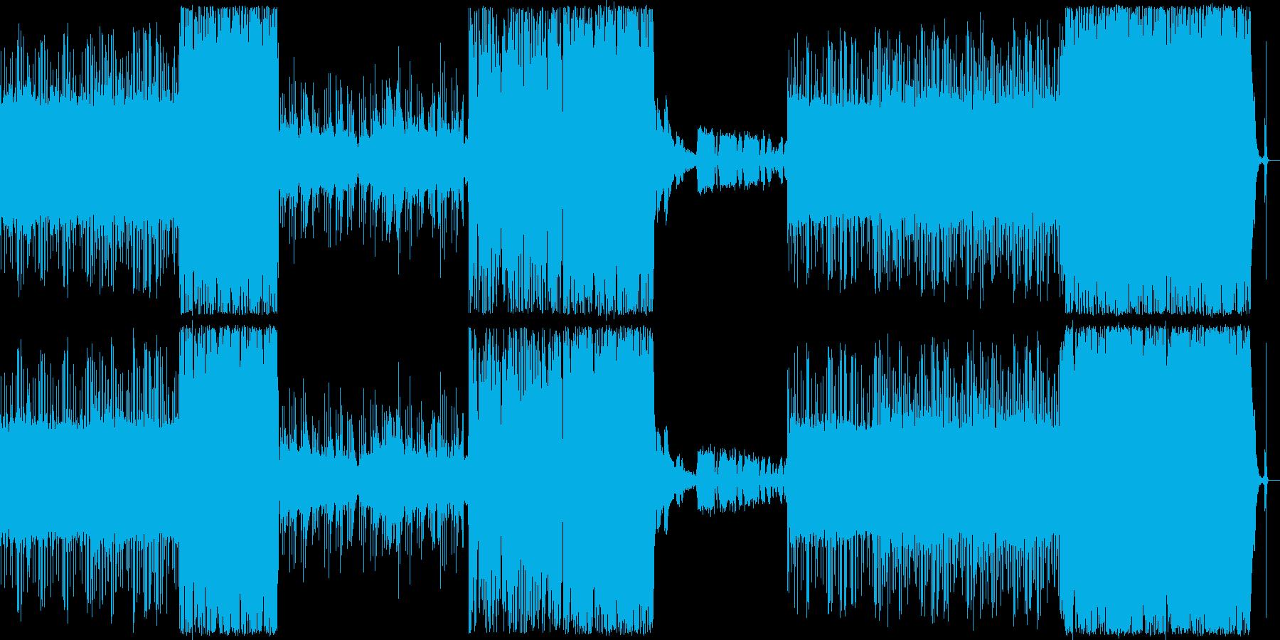 アナログな雰囲気のtrap BGMの再生済みの波形