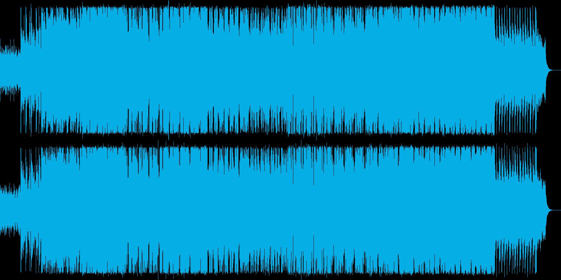 ハードなギターとオーケストラサウンドの再生済みの波形