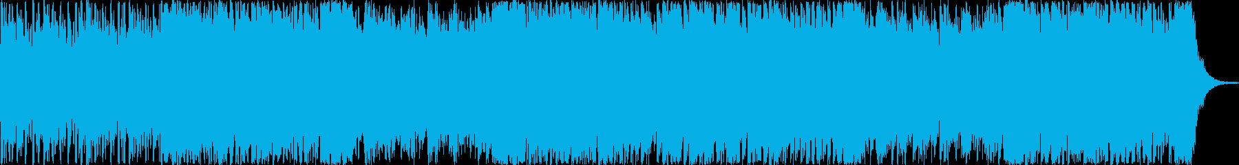 ストリングスメインの緊迫感のあるBGMの再生済みの波形