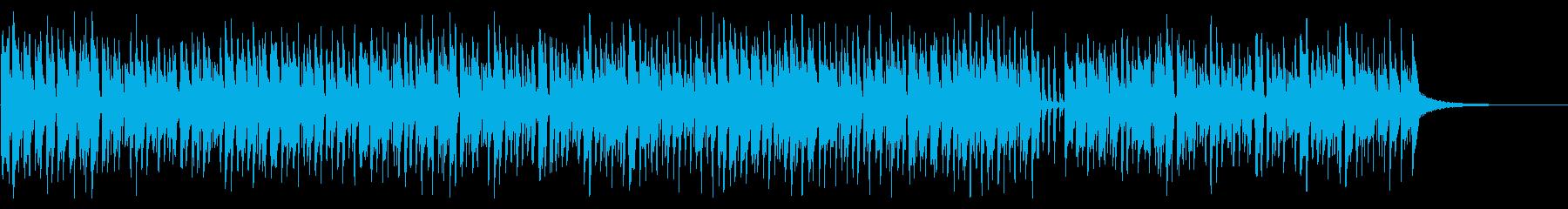 アコーディオンの陽気な曲「楽しい買い物」の再生済みの波形