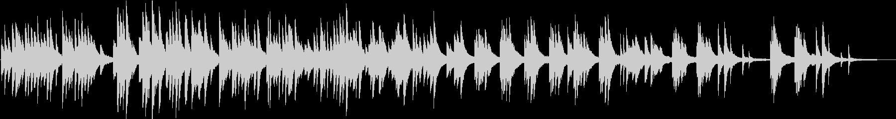 ピアノの優しい曲の未再生の波形