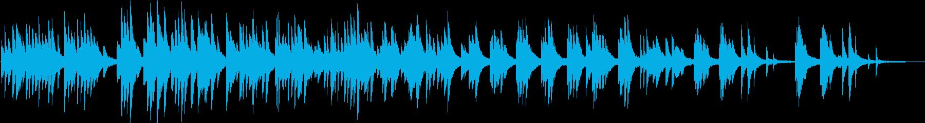 ピアノの優しい曲の再生済みの波形