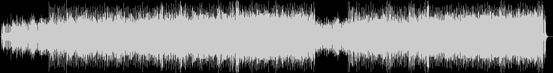ポップでコミカルなシンセサイザーの曲の未再生の波形