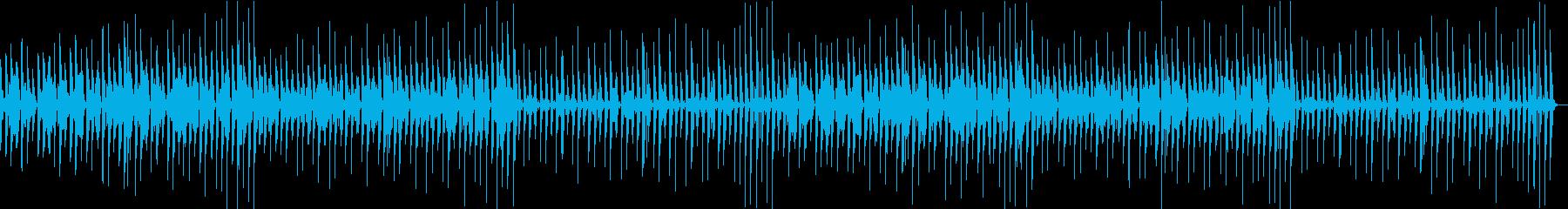 コミカルな 日常会話風 BGMの再生済みの波形