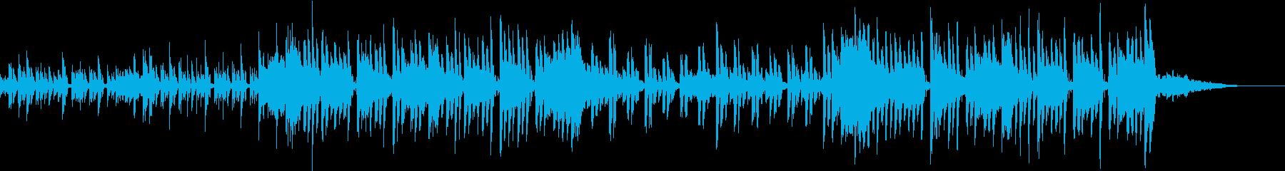 ゆっくりしたカワイイBGMの再生済みの波形