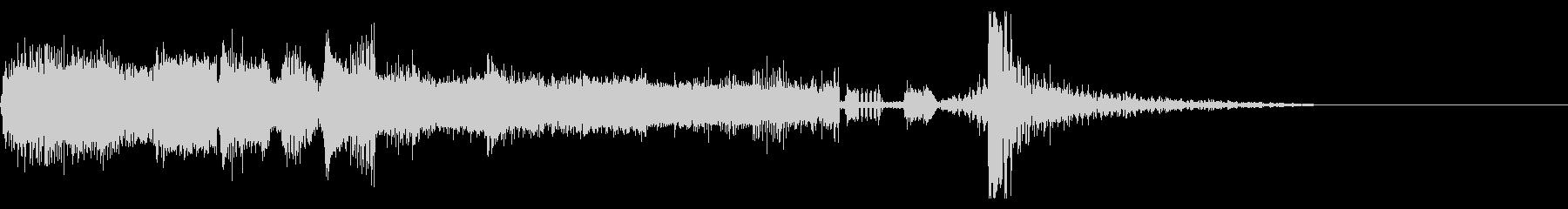 FMラジオ的ジングル10の未再生の波形