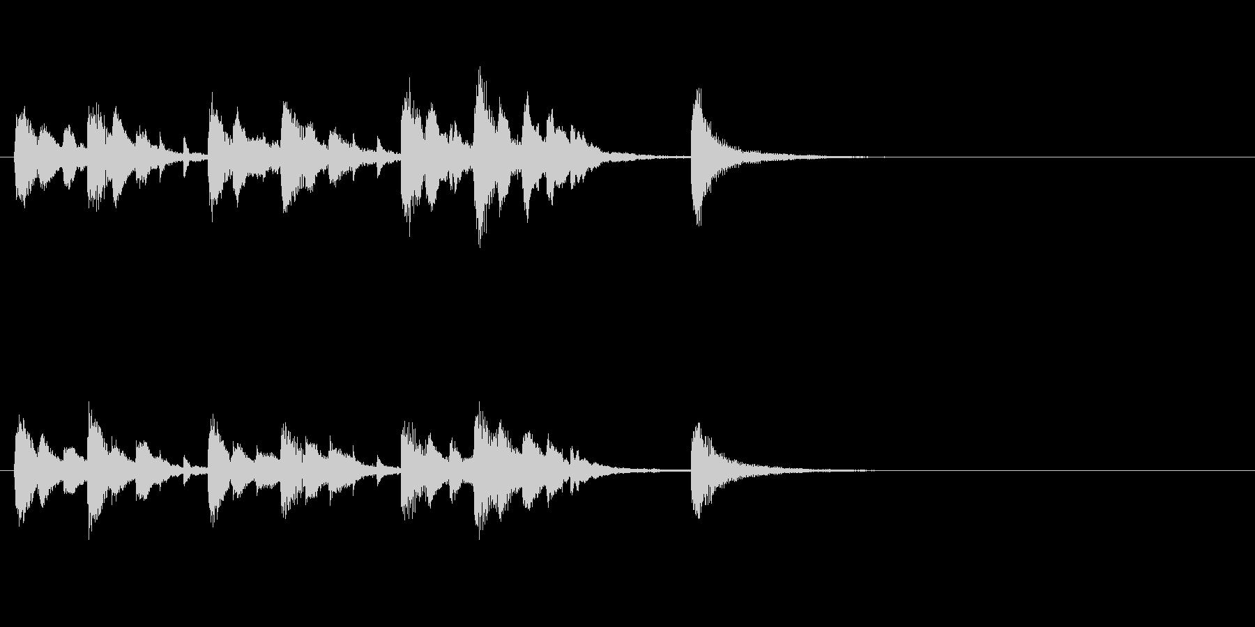 ピアノとストリングスのジングルの未再生の波形