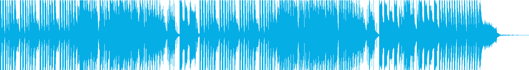 青空の下、ほのぼのした明るいBGMの再生済みの波形