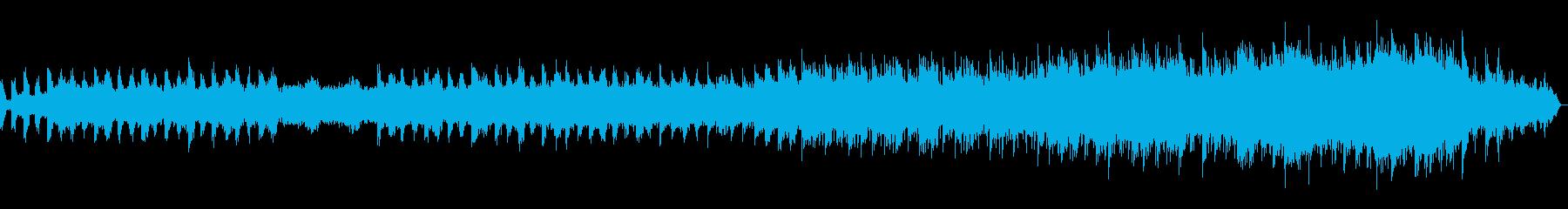ゆっくりと陽射しが差し込むような楽曲の再生済みの波形