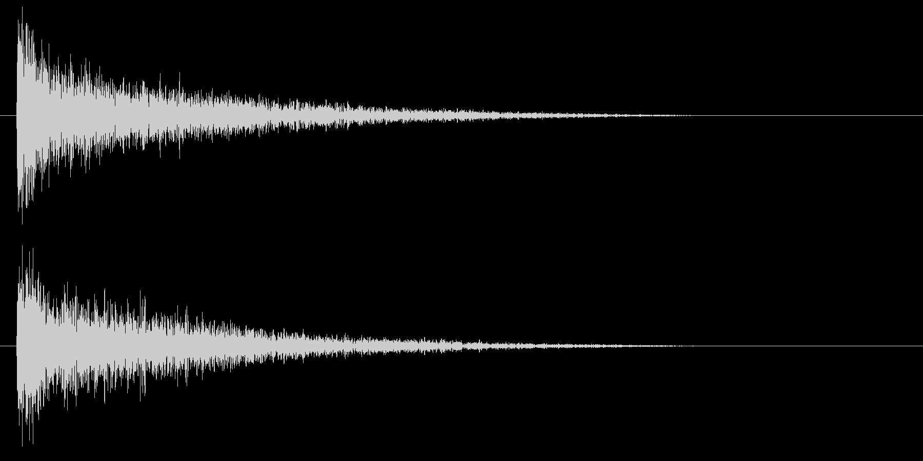 低レーザー、シマーを備えたインパク...の未再生の波形