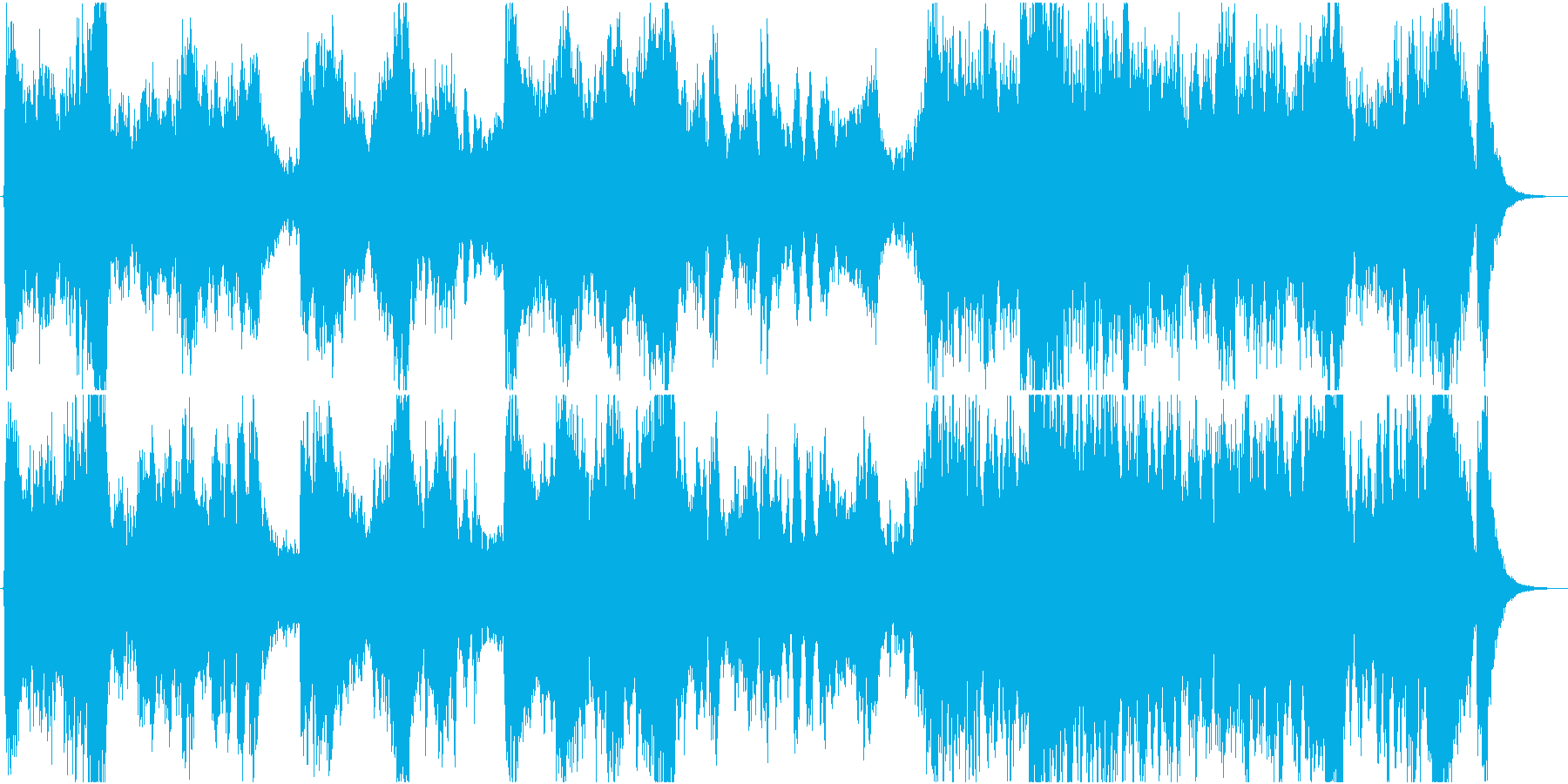 ピンチや危機的な恐怖を感じるオーケストラの再生済みの波形