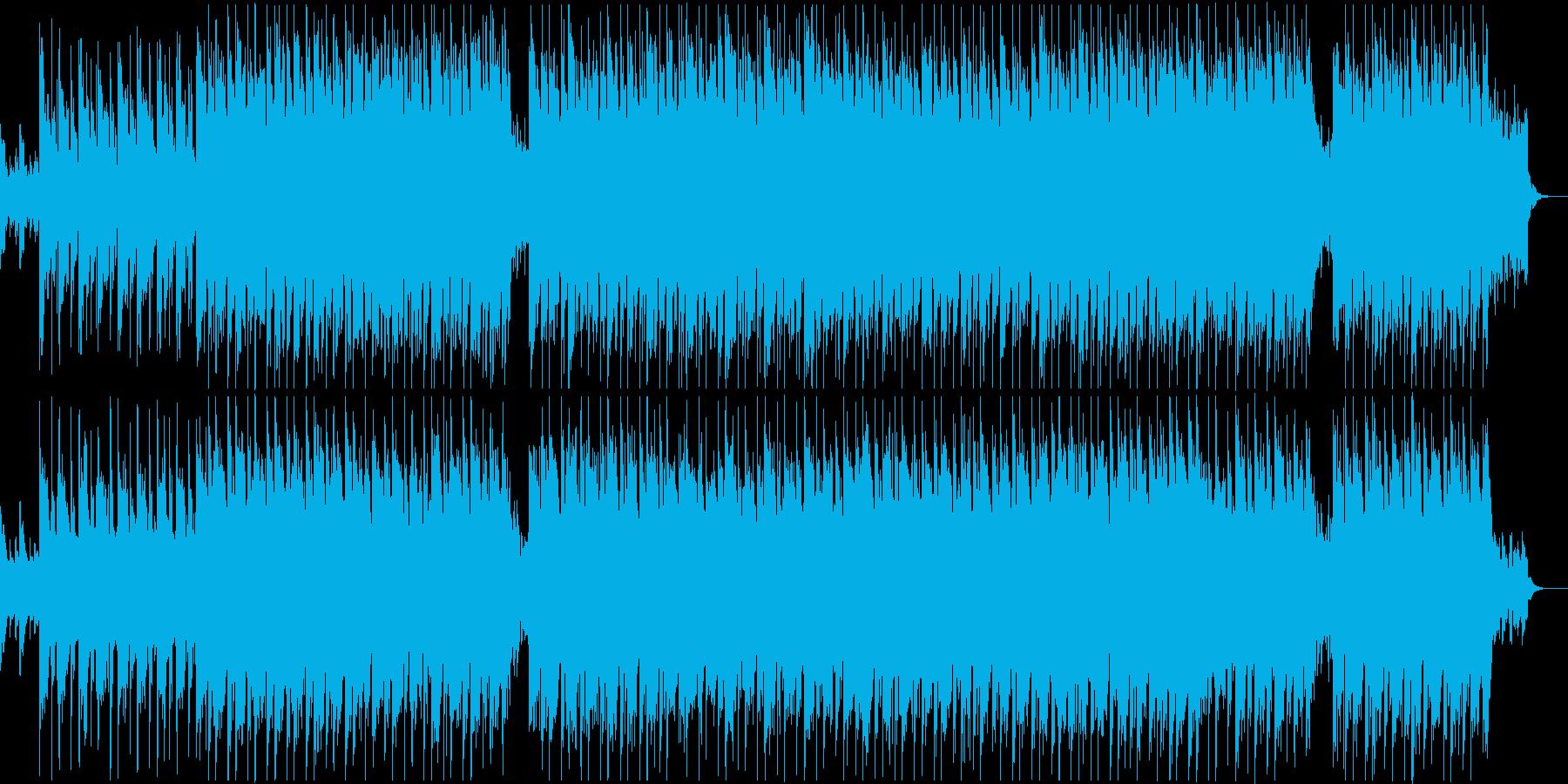 ギターシンセのメローなアンビエントBGMの再生済みの波形