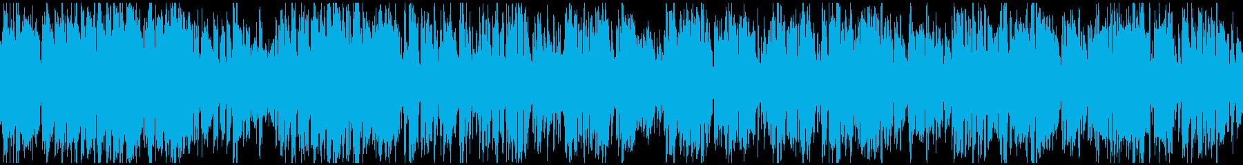 活発で軽快スポーティーなジャズ※ループ版の再生済みの波形