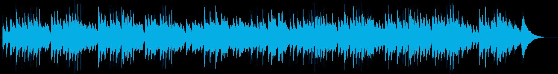 可愛いオルゴール曲の再生済みの波形