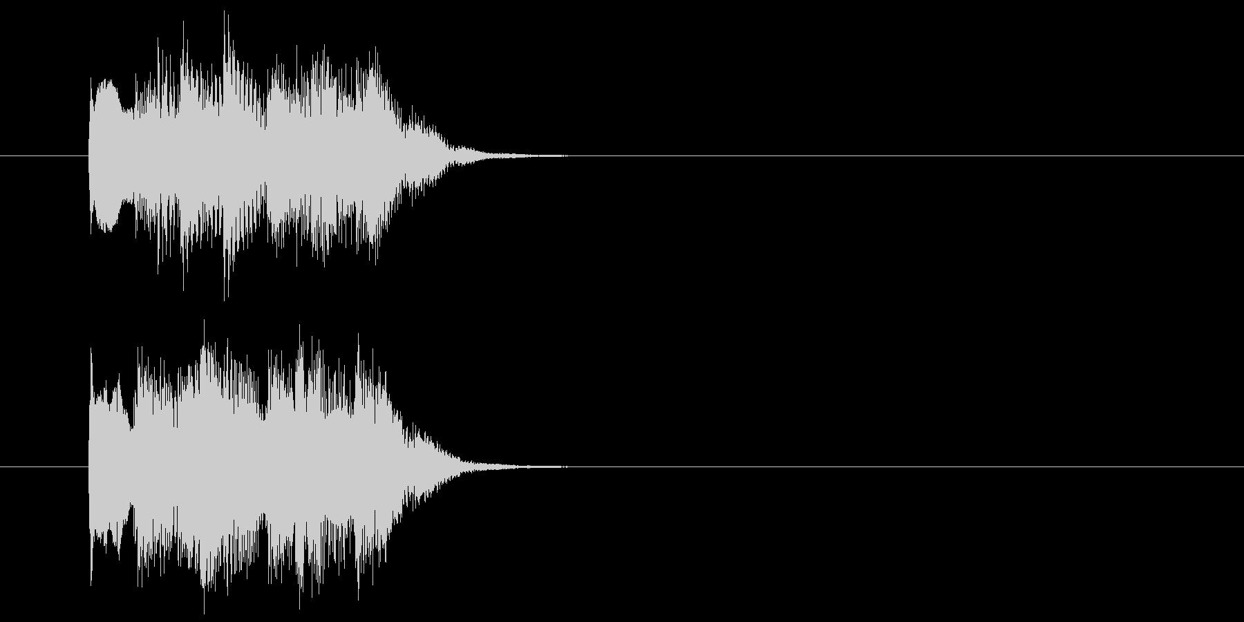 ピアノとシンセサイザーのサウンドロゴ の未再生の波形